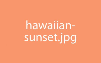 Hawaiian Vacation Sunset